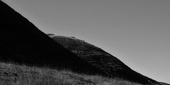 Conic Hill (InstantED) Tags: conichill scotland blackandwhite bw monochrome simplistic minimalism landscape night moonrise dark sky travelphotography travel nikon d3300 1855mm schottland mond landschaft schwarzweis hiking wandern