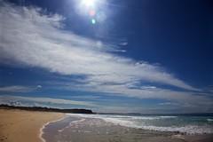 Building cloud and bright sea (Geoff Main) Tags: australia beach canon6d canonef24105mmf4lisusm clouds coast dolphinbeach moruyaheads nsw nswsouthcoast sea seascape sun sunflare