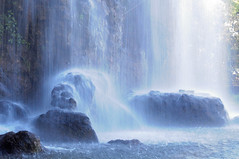 Waterfall - Nice, France (Lsnoeren88) Tags: water waterfall waterval long exposure nice france frankrijk rock rocks blue aqua light nature natuur