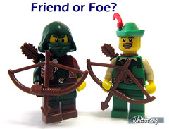 Friend or Foe? (WhiteFang (Eurobricks)) Tags: lego collectable minifigures series city town space castle medieval ancient god myth minifig distribution ninja history cmfs sports hobby medical animal pet occupation costume 16 disney historic yellow food pirates arctic halloween haunted devil nexo knights forest forestman wolfpack classic