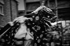 Shishimai (lion dance) -  (snakecats) Tags:     nara japan naracity naraprefecture       monochrome blackandwhite bw  shishimai liondance