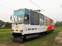 Konstal 105Na, #566, Tramwaje lskie2 (transport131) Tags: tram tramwaj bdzin t kzk gop konstal 105na zajezdnia depot