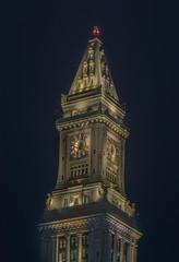 CUSTOM HOUSE TOWER (jlucierphoto) Tags: boston customhouse city night lights architecture clock tower clocktower building massachusetts nikon 70200 f28 vrii nikkor