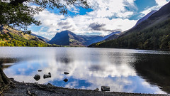 Buttermere, Lake District (throzen) Tags: uk britain united kingdom europe 2016 scenery scenic nature outdoor outdoors landscape mountains mountain mountainside hill hills hillside lake sky skies cloud blue colour color lakedistrict cumbria england