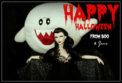Happy Halloween from Boo & Gene (Pigletta) Tags: halloween it fr blacklace jasonwu fashionroyalty integritytoys pigletta minigene minigenemarshall