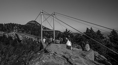 Swinging Bridge at Grandfather mountain (subithb) Tags: travel bridge nature monochrome blueridgeparkway grandfathermountain linvillefalls swingingbridge grandfathermoutain