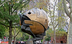 The Sphere (tony.evans) Tags: park city nyc newyorkcity sea usa ny newyork castle church ferry museum brooklyn america port river volkswagen subway liberty us marine time harbour fort manhattan library taxi aviation unitedstatesofamerica worldtradecenter union rockefellercenter nypd un maritime unitednations concorde intrepid guggenheim empirestatebuilding statueofliberty wallstreet statenisland rockefeller grandcentral georgewashington unionsquare flatironbuilding governorsisland highline novotel ussintrepid newjerseyliberty