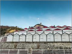 cabanes de Veules les Roses (amateur72) Tags: roses mer les automne coucherdesoleil x20 paysdecaux veuleslesroses veulelesroses veules