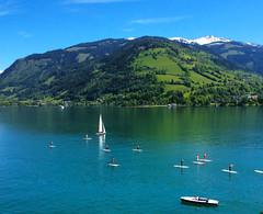Unforgetable Place (haidarism (Ahmed Alhaidari)) Tags: travel mountain lake tourism boats austria tourist sail zellamsee unforgetable
