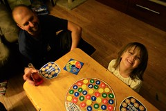 Family Game Night (Vegan Butterfly) Tags: family people game cute girl cookies night daddy kid dad child board father daughter adorable together preschool homeschool counting homeschooling