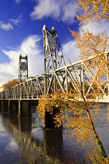Ill take Actual Costs for $3,200,001.00, Alex! (Ian Sane) Tags: street camera railroad bridge blue autumn sky fall alex colors clouds oregon canon river lens ian eos for downtown mark union central images historic ii take 5d salem costs usm willamette actual sane f4l ill ef1740mm hateyourfall 320000100