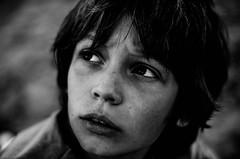 L'enfant sauvage (PaxaMik) Tags: face kid noir noiretblanc figure contraste enfant visage regard sauvage enfantsauvage n§b regardnoir kidb§w