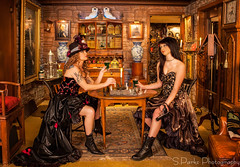 The Chess Match 3 (Steven Parks) Tags: girls woman female fight women boots chess games angry 1800 concept steampunk steampunkworks stevenparksphotography