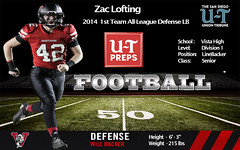 Zac Lofting - 2014 1st Team All-League Defense LB (Zac Lofting) Tags: california school camp game college sc senior sport football high san university baseball top diego scout class southern national final stats elite combine round vista quarter panthers zac dual ncaa pitcher panther blackshirt prospect rivals nuc espn recruiting lofting recruit sds 2014 offense playoff hitter cif 2015 designated tightend division1 underclassman maxpreps allleague 1stteam espnhs utpreps