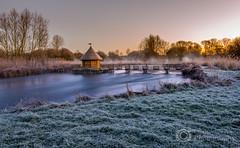 River Test - Hampshire (Christopher Pope Photography) Tags: longexposure winter sunrise river frost hampshire stockbridge rivertest fishermanshut longstock