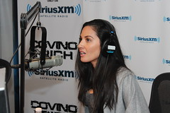 Olivia Munn returns to the Covino & Rich Show (covinoandrich) Tags: show celebrity radio olivia satellite rich newsroom interview hbo munn siriusxm covino