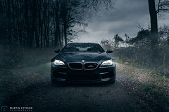 BMW M6 (CypoDesign) Tags: black car fog forest automotive front spooky bmw slovakia ac m6 schnitzer cyprian cypodesign