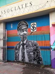 General San Dua en Wynwood (Juegasiempre) Tags: stencil mural miami calado estencil estarcido wynwood bogotastreetart djlu juegasiempre