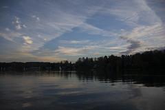 Le Lac (Simon C. Photography) Tags: soleil nikon eau lac arbres miroir foret reflets couche d7100