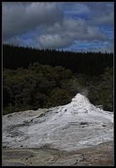 Lady Knox Gently Smoking ... While We Wait (J-o-h-n---E) Tags: travel newzealand holiday smoke smoking geyser volcanic geothermal thermal waiotapu ladyknox ladyknoxgeyser geothermalpark awps aperturewoolwich newzealalndnorthisland