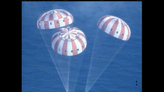 Orion returns to earth
