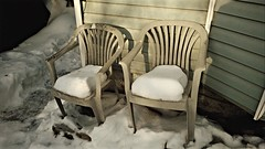 Winter Took All The Seats (Kenny2221) Tags: winter snow canada outside outdoors grande backyard chairs alberta prairie grandeprairie lawnchairs