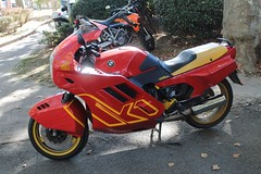 BMW K1 (xwattez) Tags: auto old france motorcycles motorbike german moto bmw transports ancienne k1 2014 rtro vhicule allemande auterive boursedchange