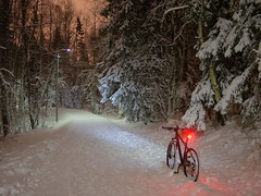 2015 Bike 180: Day 6, January 11 (olmofin) Tags: snow bicycle finland lumix mtb 20mm 29er f17 2015bike180