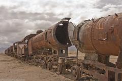 Bolivia, Abandoned Trains (OsPassosDoGatoPreto) Tags: sky southamerica clouds landscape desert bolivia latin andes altiplano highaltitude potosi salardeuyuni abandonedtrains andesmountainrange lacordilleradelosandes