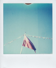 (Monica Forss) Tags: polaroidone600classic polaroid instant film analog impossibleproject sweden malmö sky flag