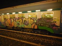 DSCN1730 (en-ri) Tags: train writing torino graffiti 14 crew carro xiv 2014 armato grets clito uao