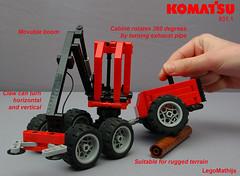 09_KOMATSU_931.1_technical_description (LegoMathijs) Tags: wood tree forest lego display parts contest boom technic 200 universal komatsu joint harvester harvesting 9311 moc legomathijs