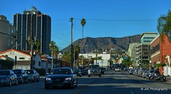 View at Hollywood Hills (elnina999) Tags: california county street city travel red panorama usa mountains tourism america movie star los boulevard place angeles pavement walk famous fame landmark southern sidewalk hollywood celebrities marble shape brass blvd hollywoodhills nikond5100