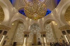 SHEIKH ZAYED GRAND MOSQUE INTERIOR 2 (Kais Kraiem) Tags: monument architecture lights islam uae mosque arabic emirates zayed abudhabi arab pillars islamic arabesque shiekh