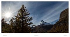 Matterhorn Impressionen... (SteffPicture) Tags: schnee schweiz vallis zermatt matterhorn stern sonne sonnenstrahlen schneeberg 4478 sonnenstern 5d3 steffpicture