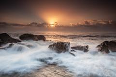 Forresters Beach 0206 (russell.bray) Tags: longexposure seascape clouds dawn rocks waves australia nsw forrestersbeach
