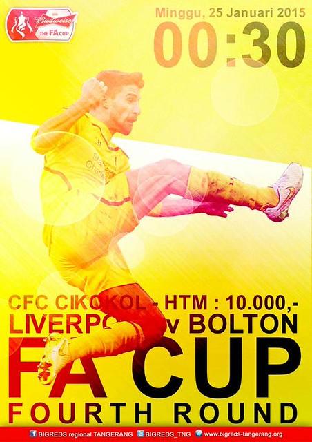 BIGREDS TANGERANG #Bigreds @BIGREDS_TNG: [Event] Nobar @BIGREDS_IOLSC TNG FA CUP #LFC v Bolton W | Minggu 25/1/15 | start 00.00 | CFC Cikokol | HTM : 10k stK5B4F8TNj