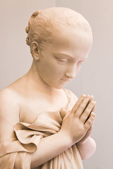 Prayer of Innocence (Sara@Shotley) Tags: sculpture white history beauty cheshire prayer smooth wirral portsunlight ladylevergallery emiliosantarelli