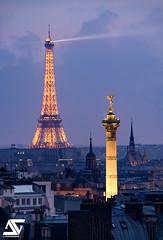 De Bastille  la Tour Eiffel (A.G. Photographe) Tags: paris france french nikon europe eiffeltower sigma toureiffel ag bluehour bastille franais parisian saintechapelle anto placedelabastille xiii parisien colonnedejuillet heurebleue d810 gniedelabastille 150600 antoxiii agphotographe