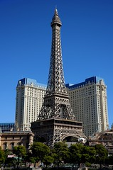 The Paris (Preston Ashton) Tags: vegas blue sky usa paris tower sunshine america hotel us desert lasvegas nevada eiffeltower sunny eiffel casino replica northamerica gamble theparis