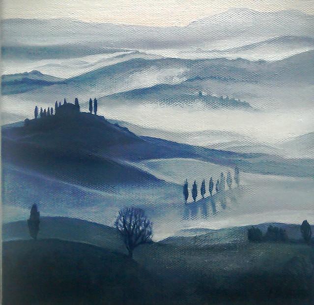Banks, Lesley ' Misty Hilltop, San Gimignano'