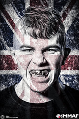 Warren Tank Mason - Union Jack. (dn4photography) Tags: las vegas portrait white black photoshop fighter tank mason 85mm cage warren ufc unit d800 rossington doncaster 2016 mma mixedmartialarts ukmma immaf dn4photography ukmmaf