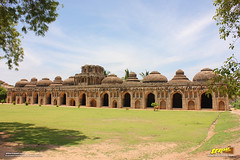 The Elephant Stables, Hampi (Trayaan) Tags: travel india monument worldheritagesite historical karnataka hampi vijayanagar incredibleindia vijayanagara vijayanagarastyle indianhistoricalarchitecture karnataempire vijayanagaratemplearchitecture vijayanagaratemplearchitectur