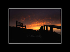 Best seat in the house (scarlet_poppy) Tags: sunset seatonsluice