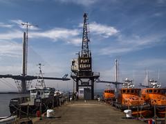 Port Edgar, South Queensferry (mister_wolf) Tags: bridge marina scotland unitedkingdom bridges lifeboat firthofforth queensferry southqueensferry westlothian portedgar queensferrycrossing