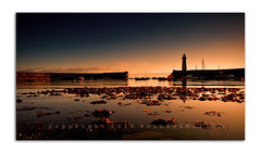 A Calm Start (RonnieLMills) Tags: lighthouse seaweed sunrise reflections tide low donaghadee
