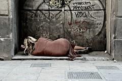Supertramp (achicheri) Tags: barcelona madrid street city travel espaa woman streetart girl spain women europa europe traveller society tramp empathy supertramp vagabond