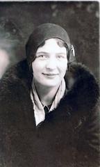 Unknown Lady, 1930's (kevin63) Tags: blackandwhite woman hat photo 1930s furcoat westvirginia milton fleamarket lightner