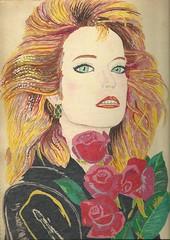 farrah (regina11163) Tags: farrah portrait charliesangels actress farrahfawcett leatherjacket celebrity blonde