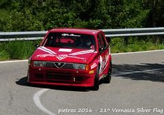 DSC_6540 - Alfa Romeo 75 Turbo Superturismo - 1987 - Gregori Rocco (pietroz) Tags: silver photo foto photos flag historic fotos pietro storico zoccola 21 storiche vernasca pietroz